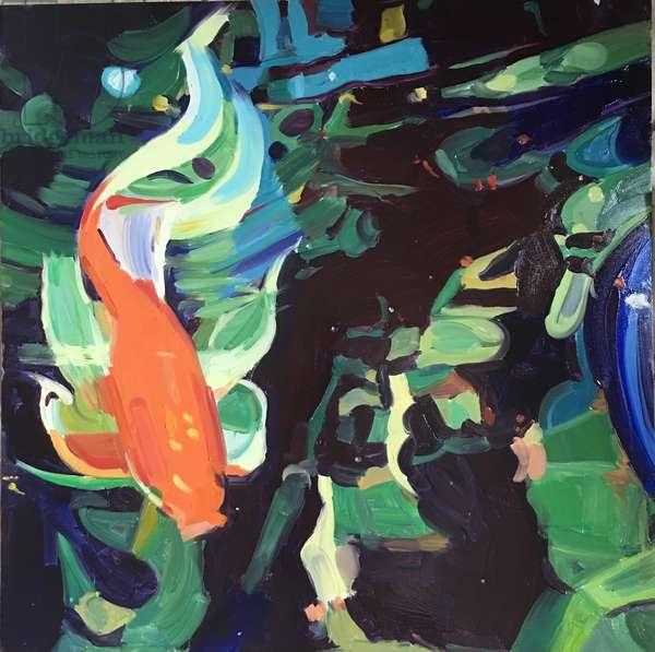 'Goldfish', 2017, (oil on primed aluminium)