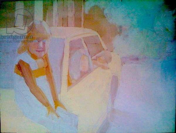 'Car 1', 2010, (oil on primed aluminium)