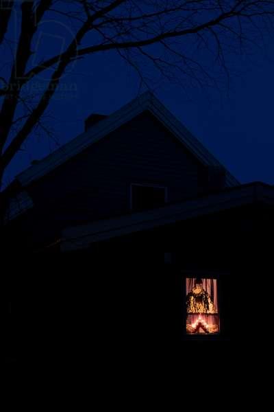Norwegian House at Night