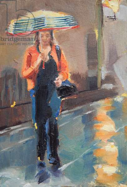 08.36 Shad Thames, 2018, (oil on card)