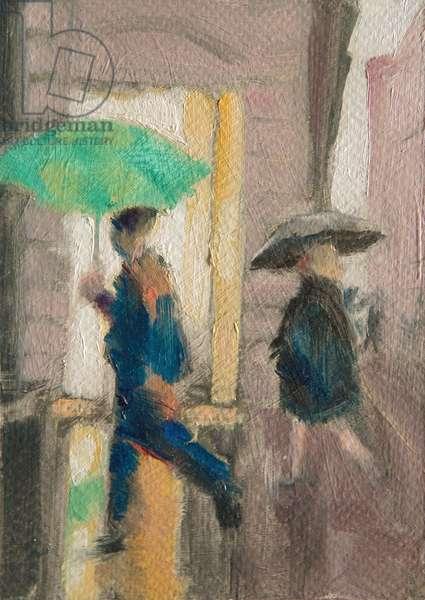 18.03 Canon Street, 2015, (oil on card)