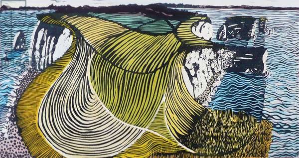 Old Harry and his Mother, 2012 (oil/linocut)