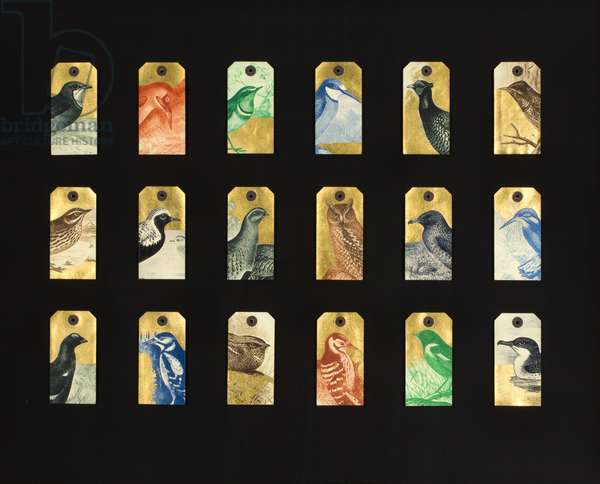 British Birds, Gold Collection, 2014, (printed and gilded labels)