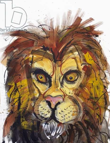 Lion, 2013, (watercolour)