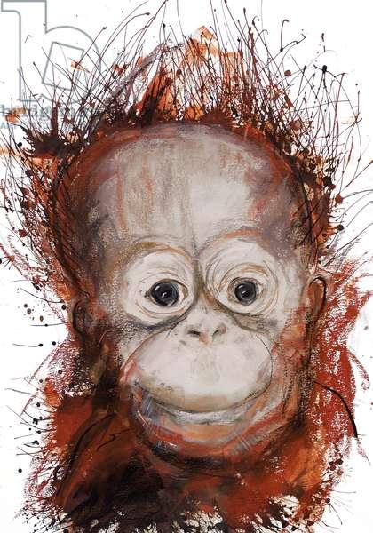 Orangutan, 2016, (pastel)