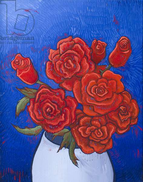 Vase of Roses 2, 2017, oil on canvas