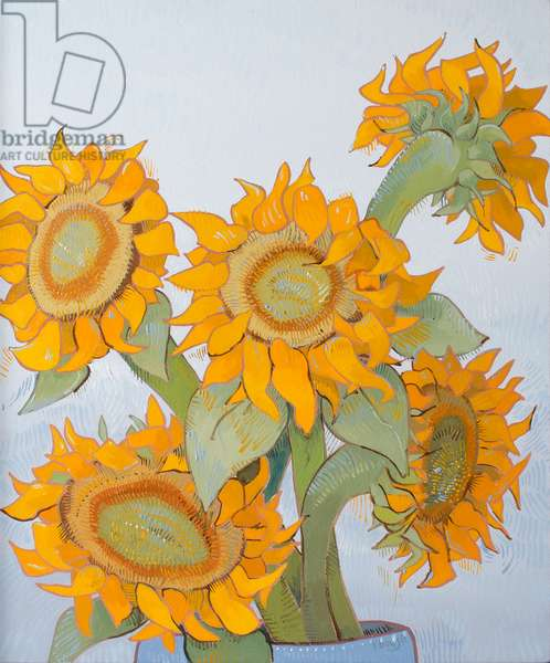 Sunflower Heads 3, 2017, (oil on canvas)