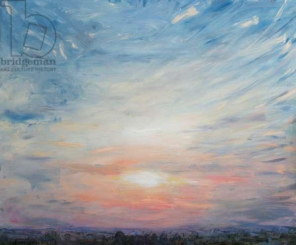 English Sunset, 2016, (oil on panel)