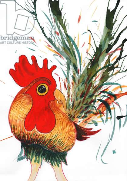 Rooster, 2011, (watercolour)