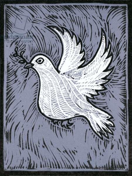 Dove of Peace, 2018, (linocut)