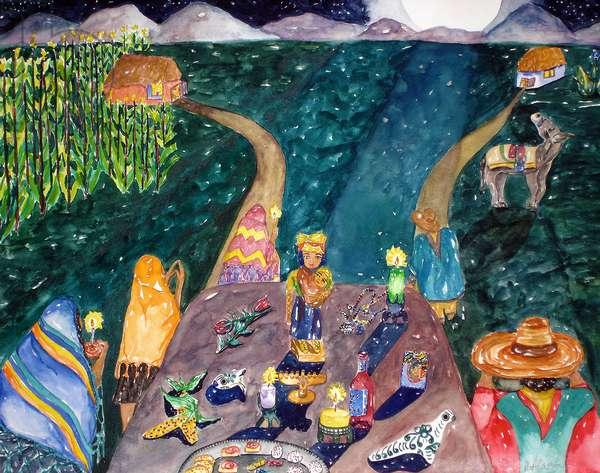 Noche, 1995 (watercolor)