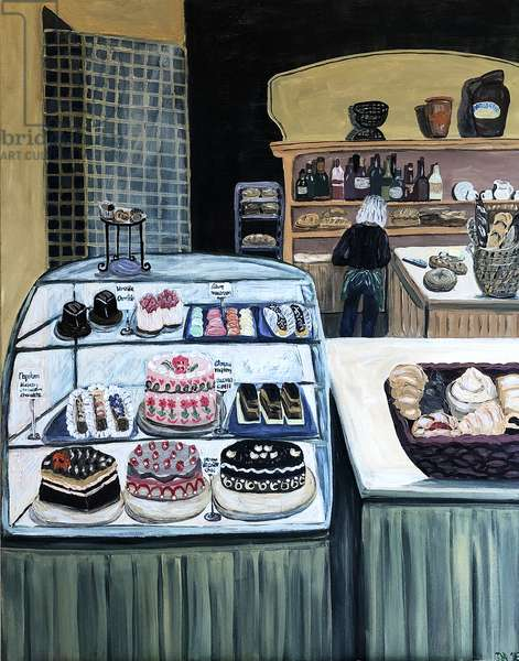 Patisserie, 2018, (acrylic on canvas)