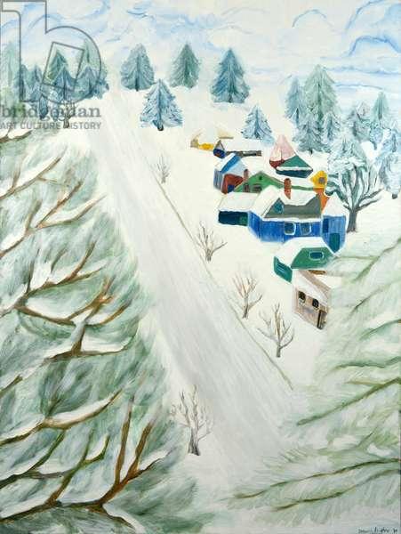 Mt. Tabor's Snow, 2009 (acrylic on canvas)