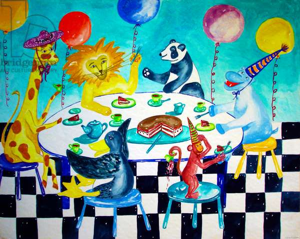 Animal Birthday, 1996, (watercolor)