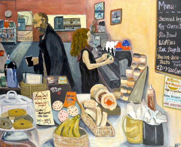Portland Bakery, 2018, acrylic on canvas