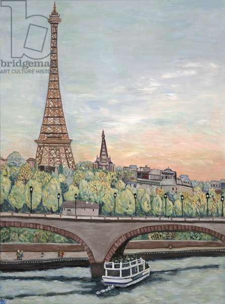 Eiffel Tower View, 2017, (acrylic on canvs)