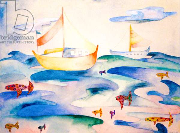 Ocean Puzzle, 1993, (watercolor)
