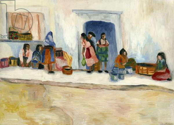 San Miguel Women, 1982 (oil on canvas)
