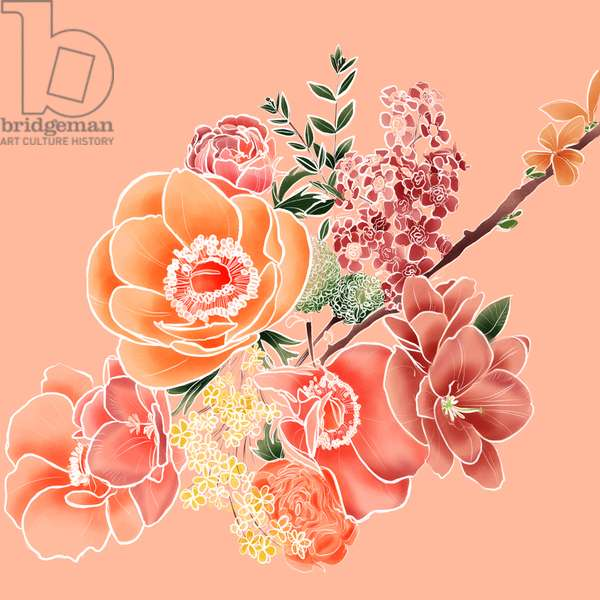 Flower Bouquet, 2019, digital