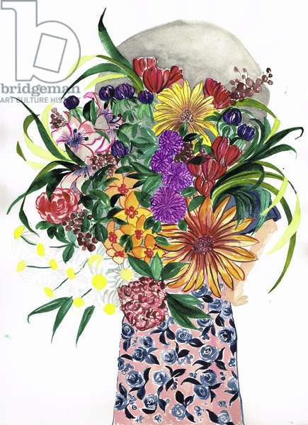 Flower Girl, 2018, watercolour