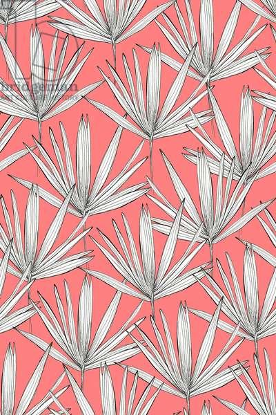 Pink Palmtree, 2015, fineliner