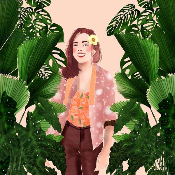 plant lady; 2019; digital