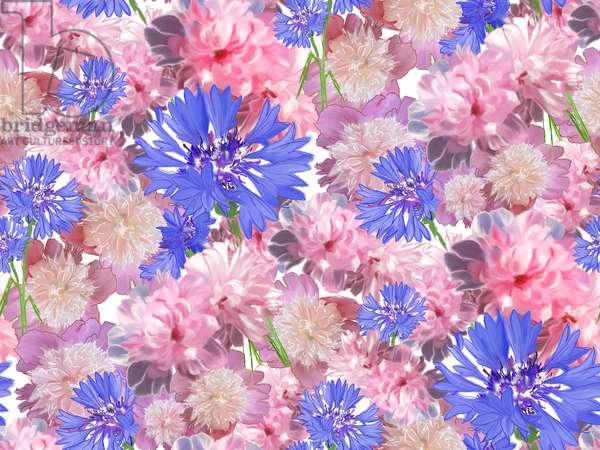Flower meadow, 2016, digital