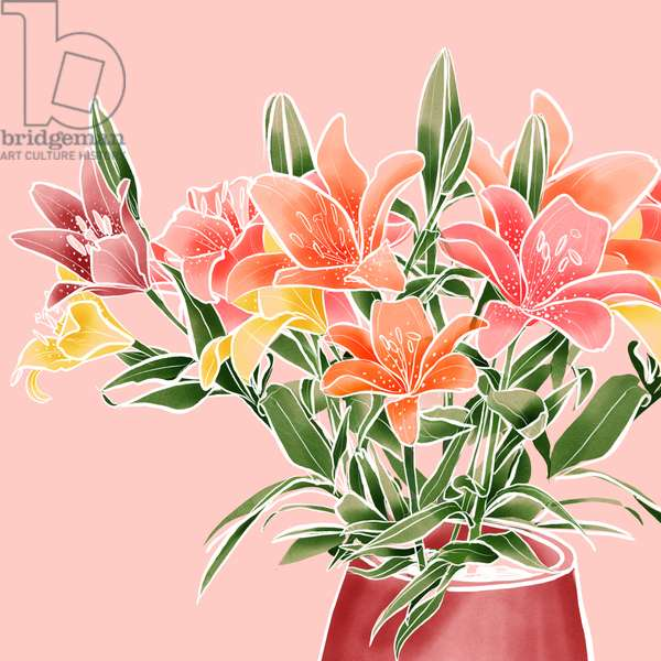 Lilies, 2019, digital