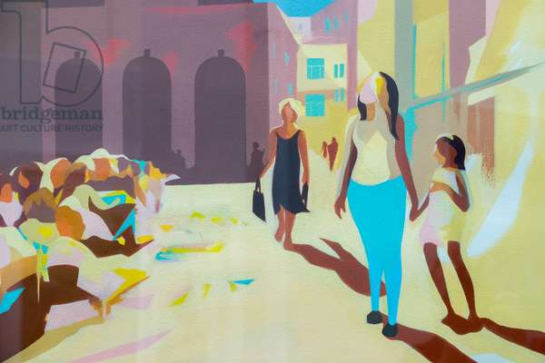 Summer in the Market Square, 2012, acrylic on paper