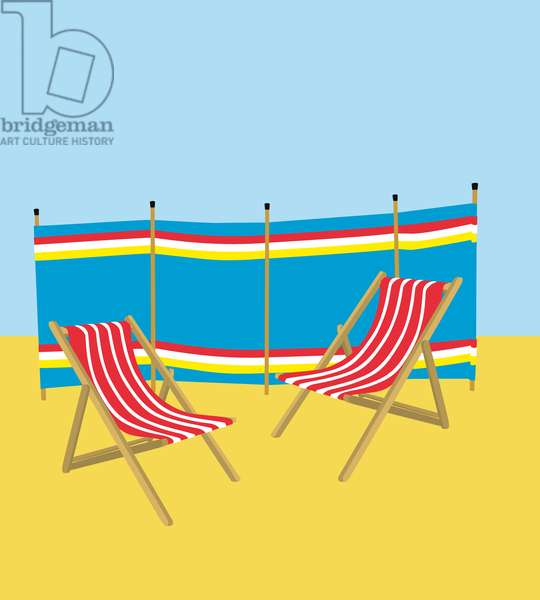 Deckchair and windbreak, 2019