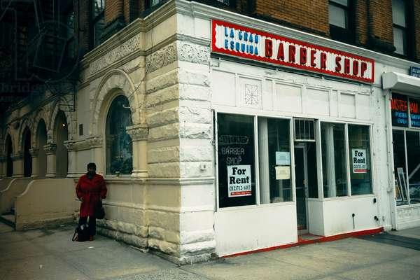 harlem barber shop closed, 2008 , photograph