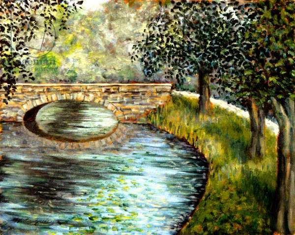Old Stone Bridge, 1998, (oil on canvas)