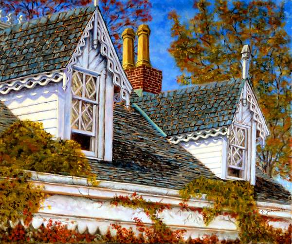 Victorian Home, 2005, (oil on canvas)