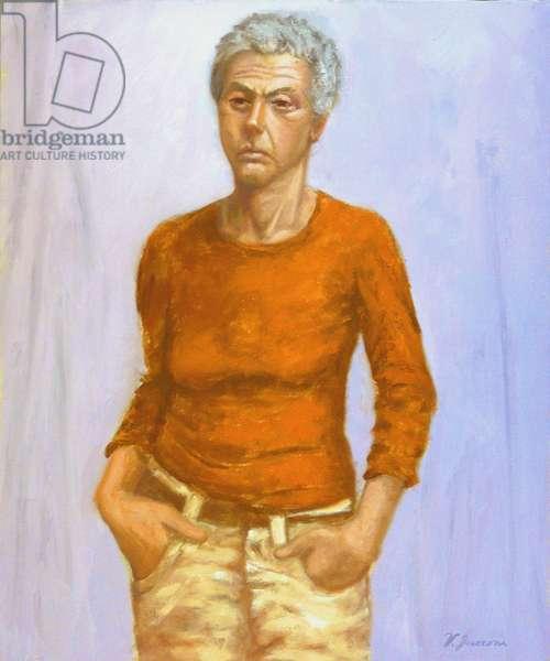 Orange Sweater, 2004, (oil on canvas)