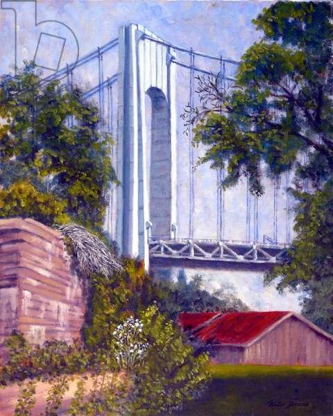 Verrazzano Bridge, 2002, (oil on canvas)