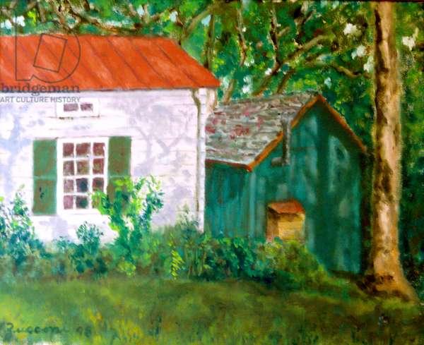 Farm Buildings, 1998, (oil on canvas)