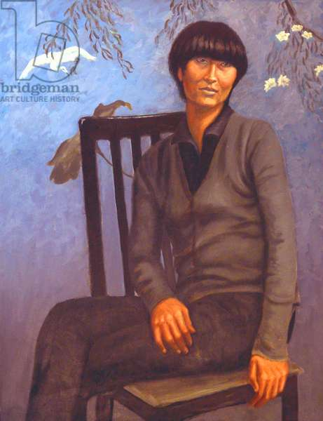 Seated Asian Woman, 2006, (oil on canvas)