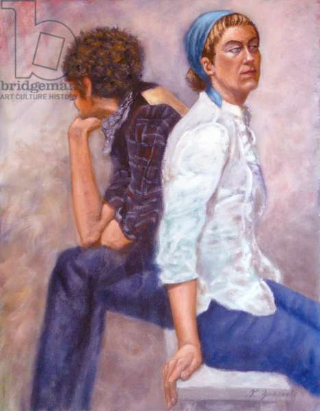 Man and Wife, 2010, (oil on canvas)
