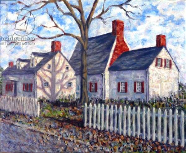 Billiou- Stillwell Perine House; 2016, (oil on canvas)
