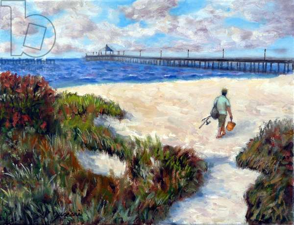 The Fisherman; 2004, (oil on canvas)