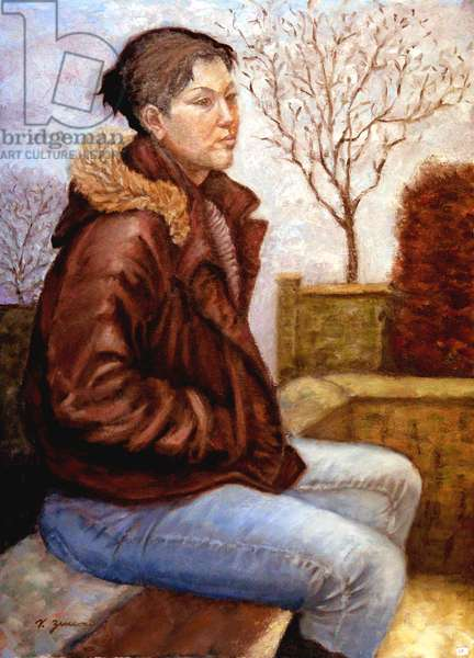 Central Park Bench, 2003, (oil on canvas)