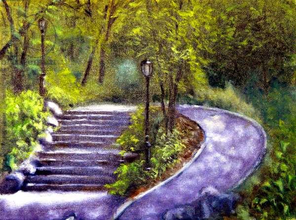 Central Park Footpaths, 2002, (oil on canvas)