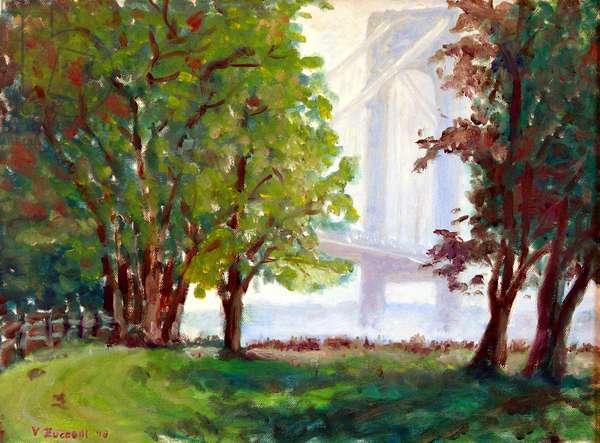 Verrazzano Bridge, 1998, (oil on canvas)