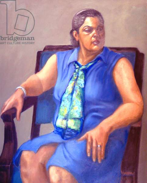 The Blue Dress, 2005, (oil on canvas)