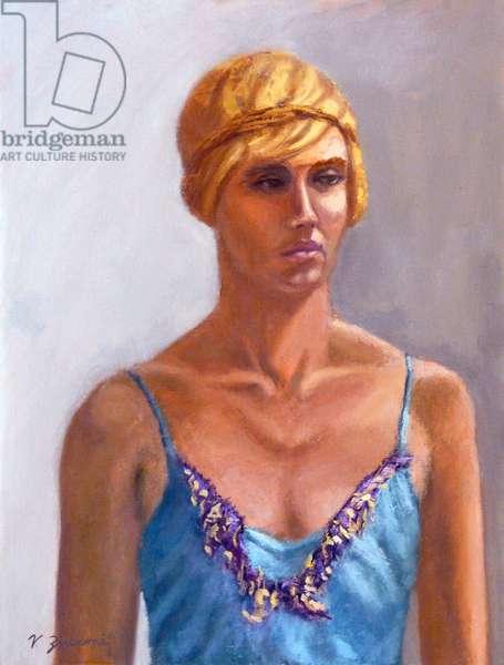 Blonde Model, 2001, (oil on canvas)