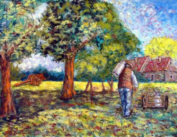 The Dairy Farmer, 2012, (oil on canvas)