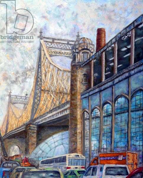 Queensboro Bridge, 2018, (oil on canvas)