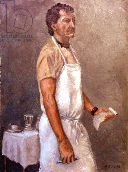 The Waiter, 2004, (oil on canvas)
