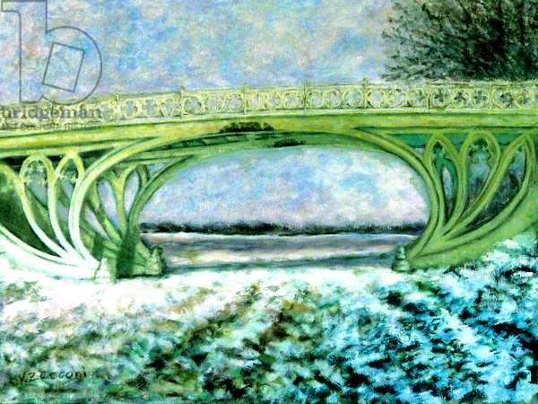 Central Park Gothic Bridge, 2005, (oil on canvas)