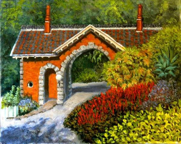 Snug Harbor Gatehouse, 1999, (oil on canvas)